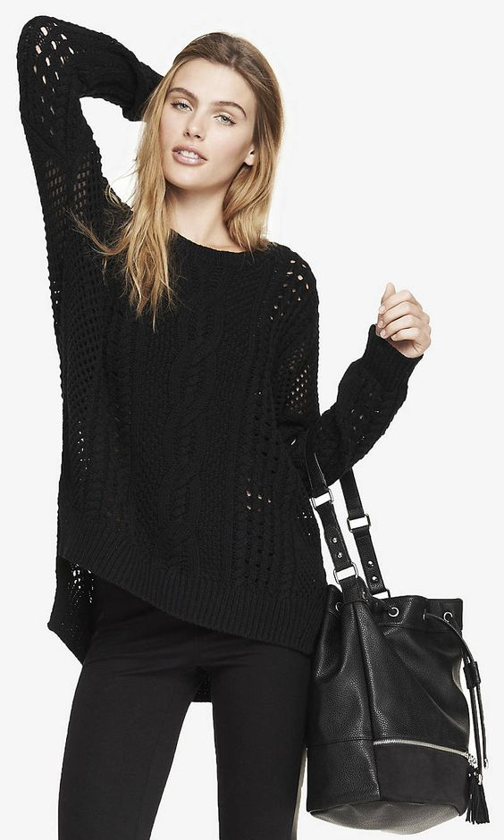 Open Stitch Tunic Sweater. Can't wait for the cooler weather!