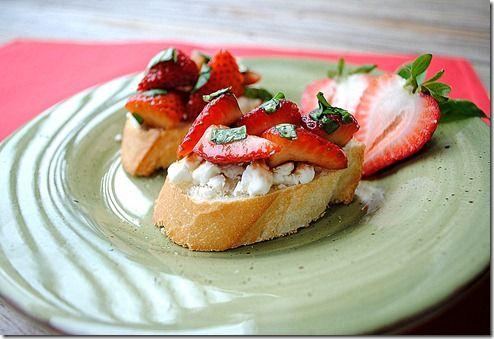 Balsamic Strawberry Bruschetta