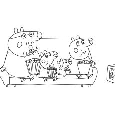 Top 35 Free Printable Peppa Pig Coloring Pages Online Peppa Pig Coloring Pages Peppa Pig Colouring Happy Birthday Coloring Pages