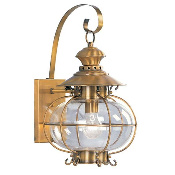 Providence Wall-Mount 1-Light Outdoor Flemish Brass Incandescent Lantern