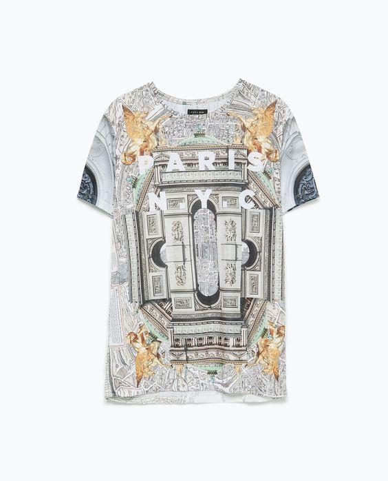 insane zara paris nyc tshirt mens fashion size clothes pinterest zara man nyc and fashion. Black Bedroom Furniture Sets. Home Design Ideas
