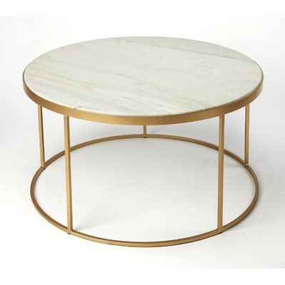Everly Quinn Koehler Coffee Table Gold Coffee Table Round Mid Century Coffee Table Coffee Table
