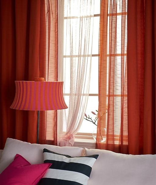 Creative Window Treatments For Spring Curtains Living Room Orange Curtains Living Room Trendy Living Rooms