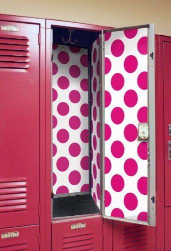 Locker Designz Deluxe Magnetic Locker Wallpaper, Hot Pink Dot by Locker Designz, http://www.amazon.com/dp/B008KAGT5C/ref=cm_sw_r_pi_dp_YT6asb0PKZ7S4