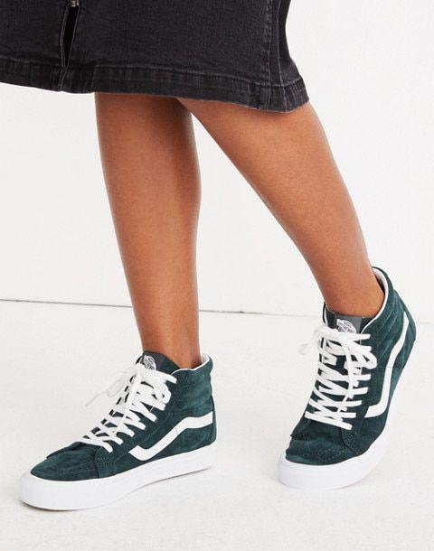 Vans Unisex Sk8 Hi Reissue High Top Sneakers In Spruce Suede High Top Sneakers High Tops Top Sneakers