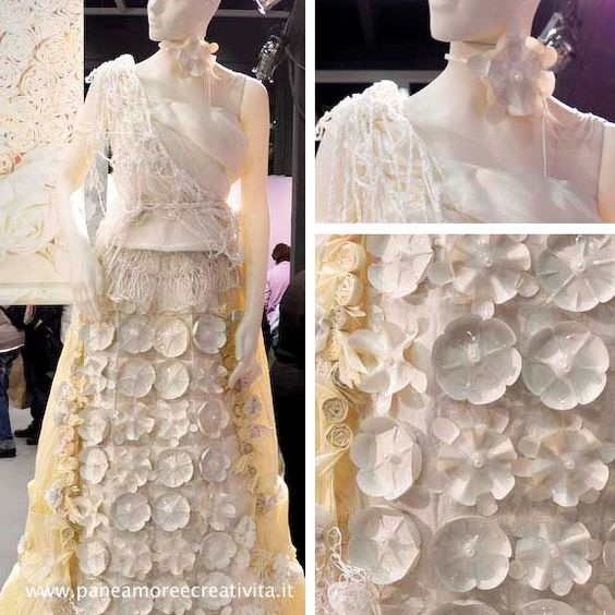 Wedding Dress (with pet recycled) - Cristina Sperotto
