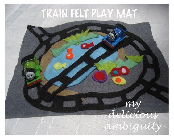 My Delicious Ambiguity: DIY Felt Play Mats: Construction & Trains