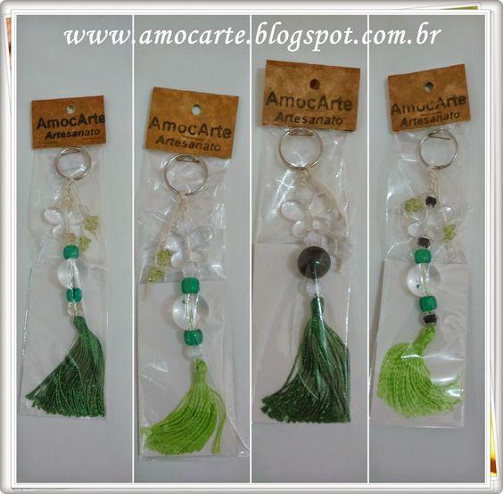 Chaveiro de pedraria http://amocarte.blogspot.com.br/