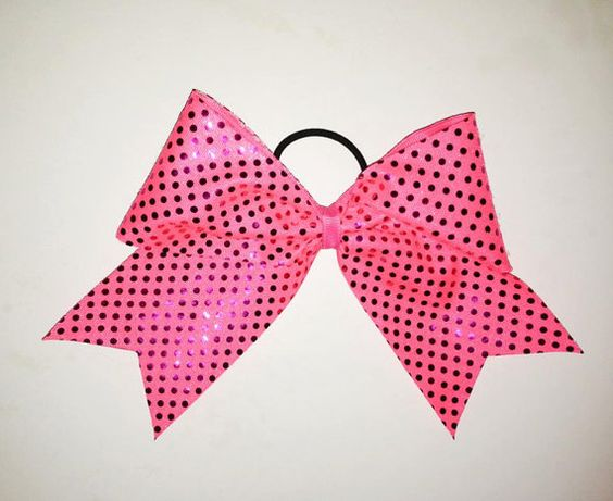 Pink Sequin Breast Cancer Awareness Bow by Justcheerbows on Etsy, $8.00 #savethetatas #awareness #breastcancer