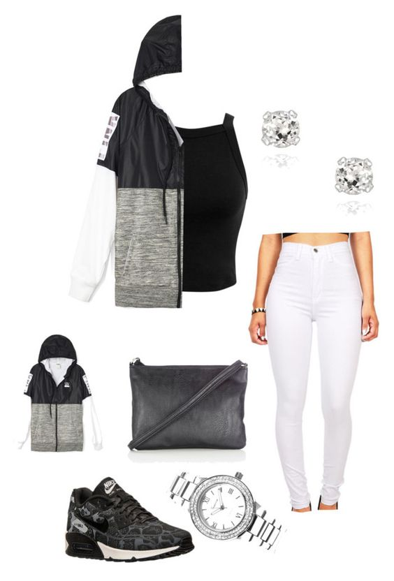 """Untitled #77"" by jadechanteon ❤ liked on Polyvore featuring Miss Selfridge, NIKE, Geneva, Glitzy Rocks and Wallis"
