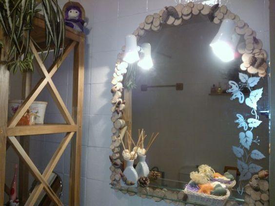 Decorar espejo de ba o decoraci n pinterest diy y - Decorar espejo bano ...