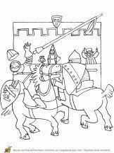 moyen age tournoi de chevaliers