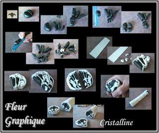 Fimo Cristalline, tuto et bijoux en polymère: Une fleur pour Flower ;-)