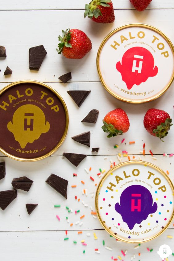 , Strawberry, Birthday Cake...just a few of our favorite Halo Top ...