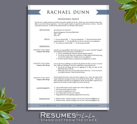 Resume templates for word, Resume templates and Resume on Pinterest
