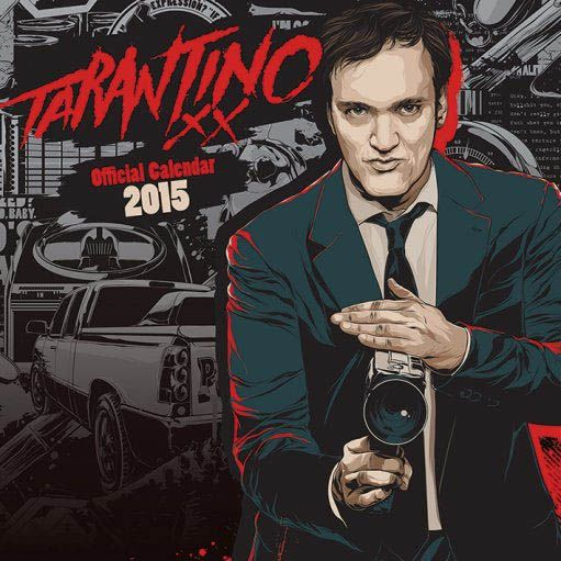 Calendario Quentin Tarantino 2015 inglés Estupendo calendario con imágenes en alta calidad de Quentin Tarantino 100% oficial y licenciado que de buen seguro hará las delicias de todos sus fans. Un calendario es uno de esos regalos que nunca faltan cada año.