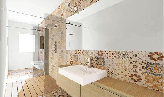 Una doccia passante per un bagno stretto e lungo  bagno  Pinterest ...