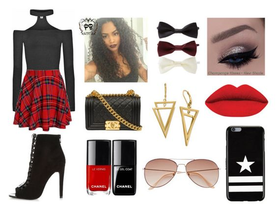 """Little Red Riding"" by angie-50 ❤ liked on Polyvore featuring Forever 21, Givenchy and H&M"