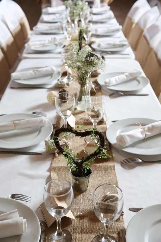 15 inspirations pour un mariage champ tre inspiration for Deco de table champetre