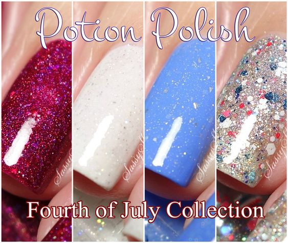 Potion Polish - Fourth of July Collection - Limited Edition Indie Nail Polish - Summer 2016 | Live Swatches & Review | Sassy Shelly
