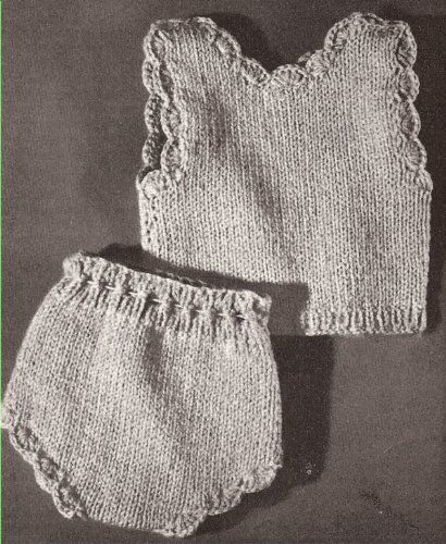 Vintage Knitting Pattern To Make Knitted 18 For Dolls