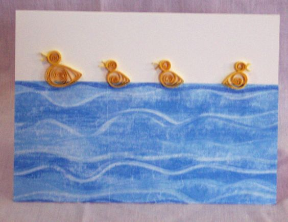 Quilled Duck Card
