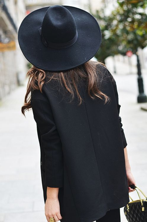 Black hat and black coat. www.publicdesire.com