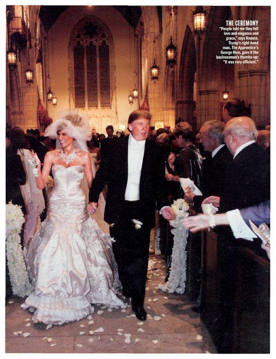 Celebrity weddings trump wedding and wedding on pinterest for Melania trump wedding dress