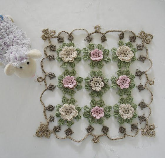 Lace and Lupins: Cro-Tatted Rose Doily