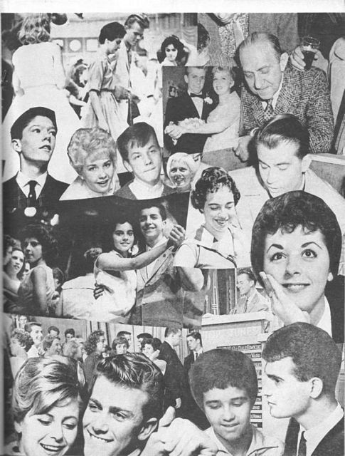 American Bandstand Regulars collage ~ from a vintage TEEN Magazine