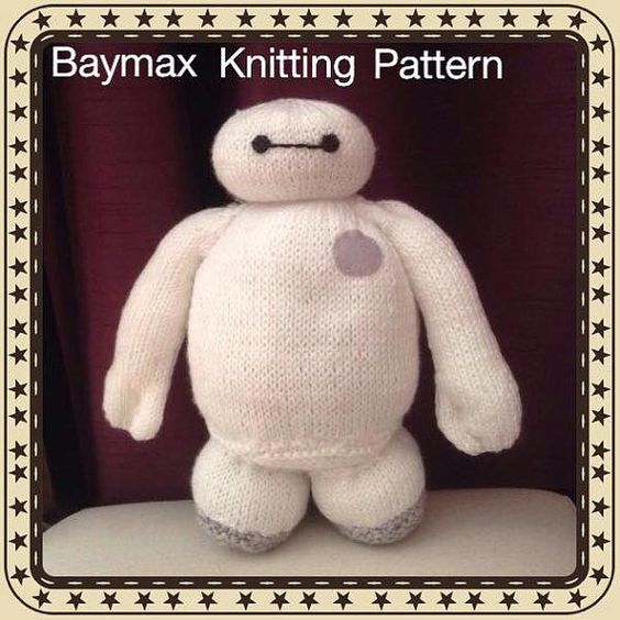 Baymax Knitting Pattern inspired by Big Heroes by Jessydknits