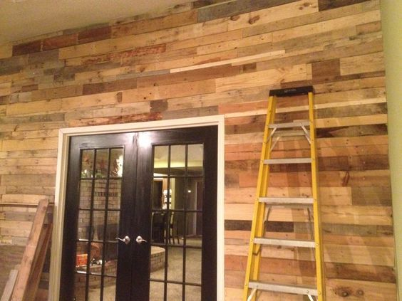 Pallet wall done!!