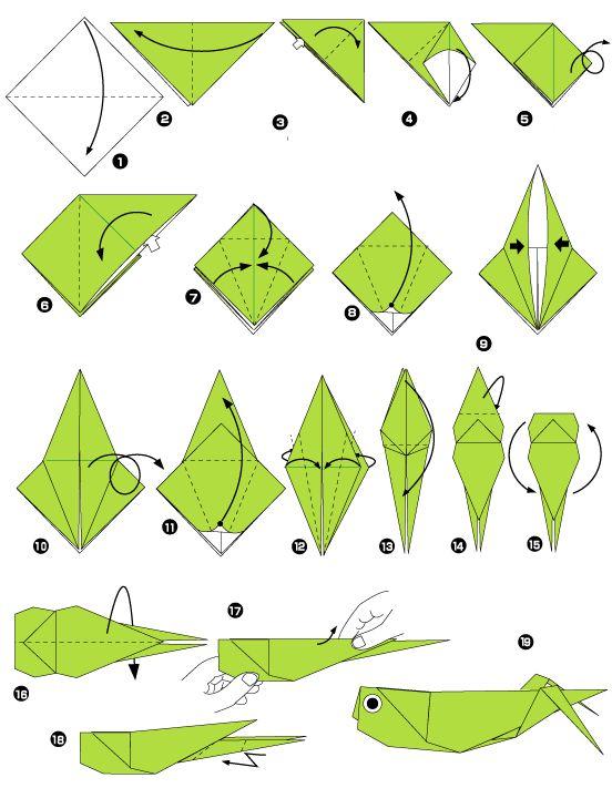 Sauterelle en origami