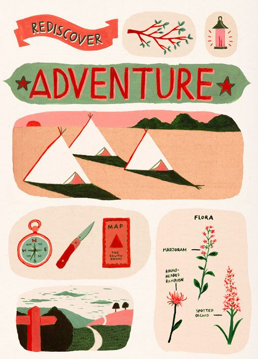 illustration - Ruby Taylor: Taylor Illustration, Adventure Graphics, Outdoor Adventures, Art Design, Art Illustration, Rediscover Adventure, Camping Illustration