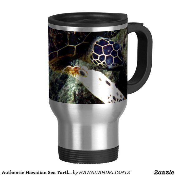 Authentic Hawaiian Sea Turtle Photography 15 Oz Stainless Steel Travel Mug