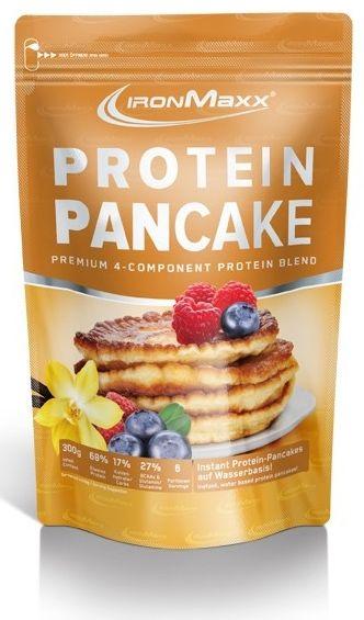 Protein Pancake Ironmaxx, Aroma Vanille, 300 g Beutel mit nur 17.1 % Kohlenhydraten, aber hohen 65.6 % Protein, low fat, nur CHF 12.80 - JETZT AUCH ONLINE. #lowcarb #lowfat #highprotein #hoherProteingehalt #muskelaufbau #bodybuilding #abnehmen #fitness #active12 #Ironmaxx #Pancakes #ProteinPancake