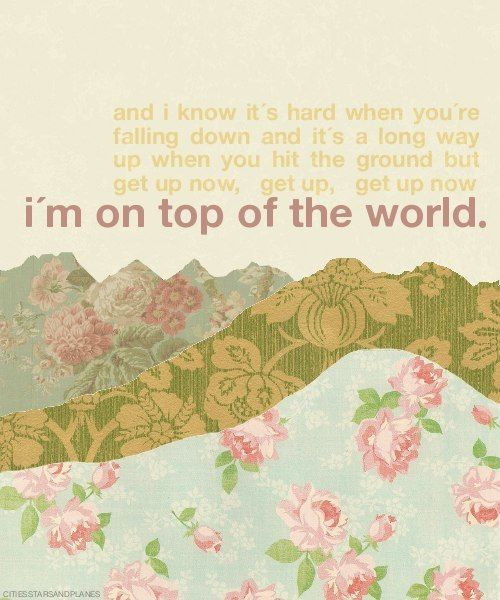Imagine Dragons - on top of the world | My favorites in ...