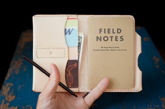 Field Notes Wallet The Original Park Sloper by OneStarLeatherGoods, $99.00