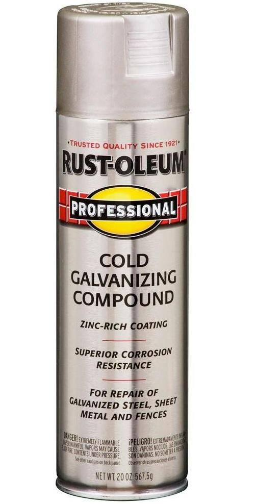 Rust Oleum 7585 838 Professional Cold Galvanizing Compound Spray