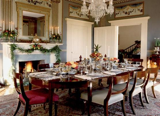 Free images of southern victorian christmas decor google for Victorian dining room decorating ideas