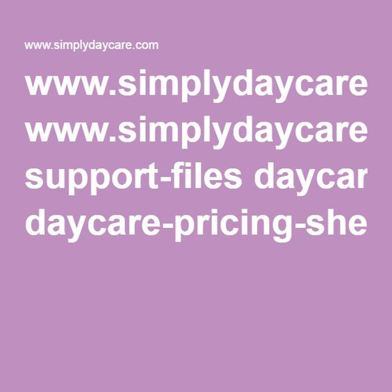 www.simplydaycare.com support-files daycare-pricing-sheet.pdf