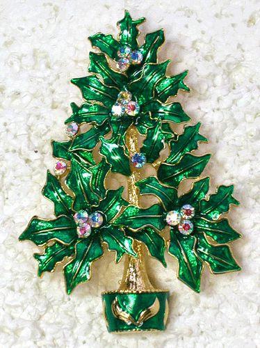 CLEAR AB RHINESTONE CRYSTAL CHRISTMAS TREE PIN BROOCH G157   eBay: