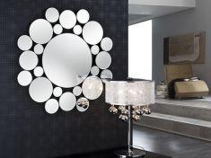 espejos modernos de cristal modelo leila