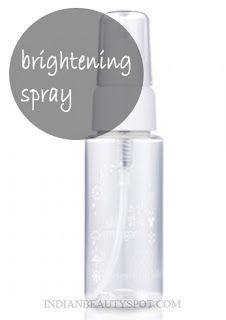 brightening spray