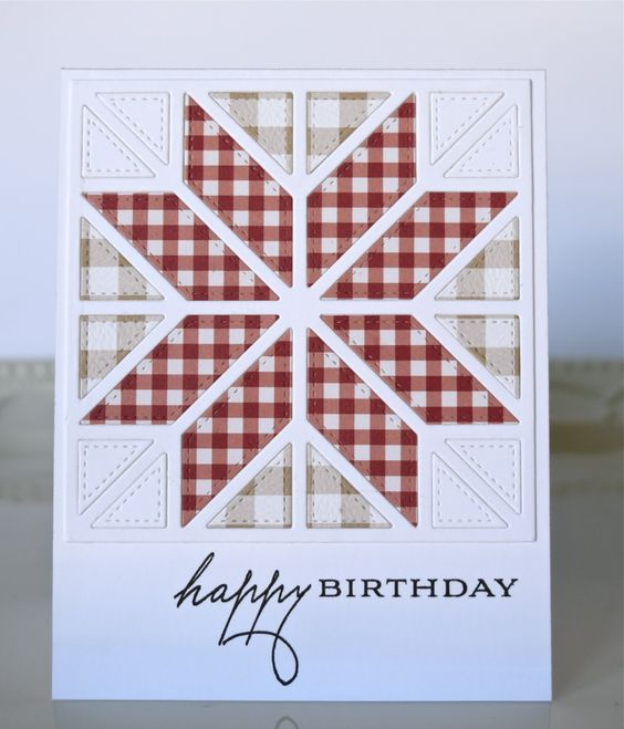 Birthday sentiments, Star patterns and Handmade quilts on Pinterest