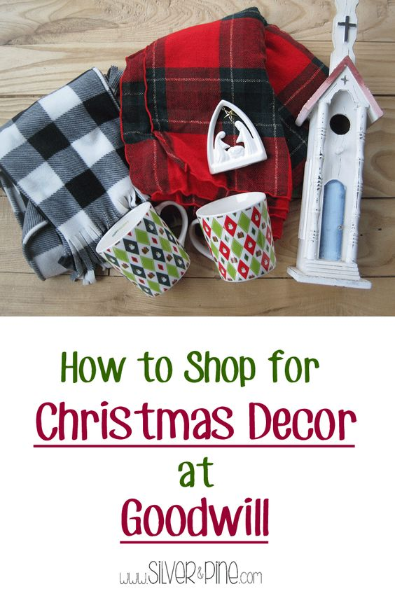 You don't have to spend a lot to decorate your home for Christmas, This shows you how easy it is to find home decor at goodwill.