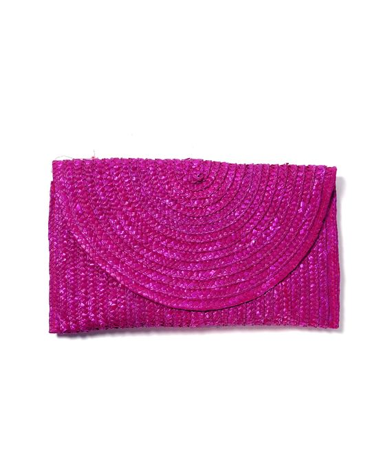 Shiraleah Straw Flap and Snap Clutch