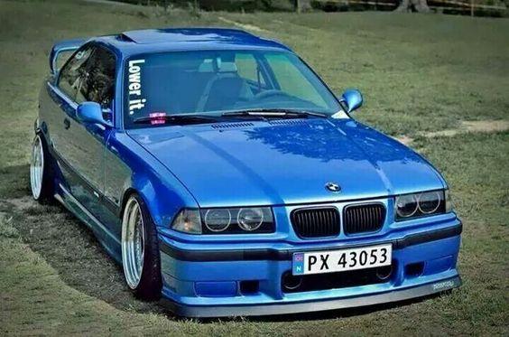 BMW E36 M3 blue slammed lower it | BMW - Ultimate Driving ...