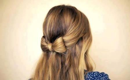 como hacer un moño con el cabello