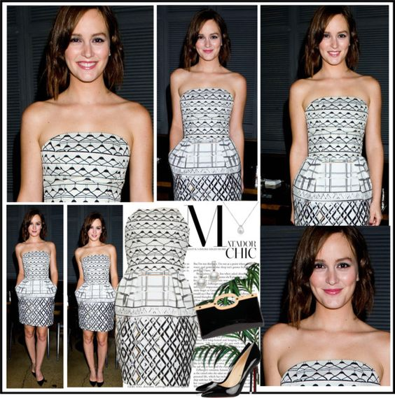 """Celebrity Style - Leighton Meester"" by robilollo on Polyvore"